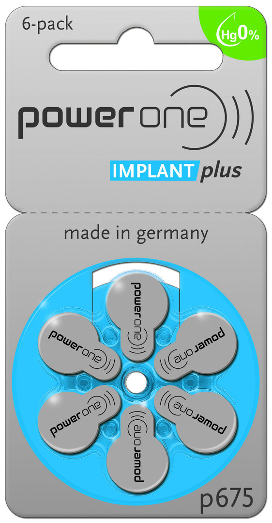 CI Batterien Power one Implant Plus- 120 Stück